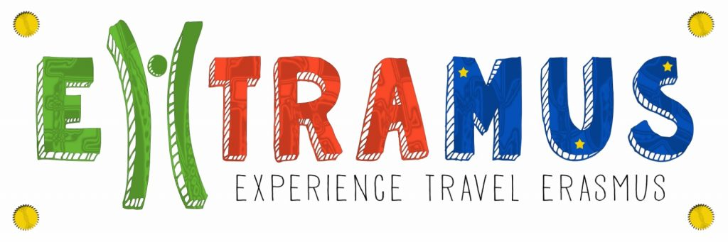 This is an image ouf our logo at Extramus, Experience, travel, Erasmus